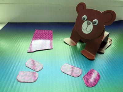 медведь из бумаги